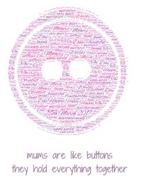 Wicked Creations mothers day card  mothers buttons mothers day mum  personalised online greeting card