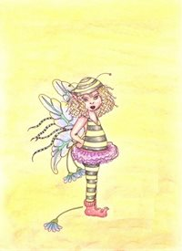 General fairy, fantasy, artistic, cute, hand drawn personalised online greeting card