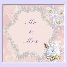 wedding Mr & Mrs, Wedding, bride & Groom personalised online greeting card