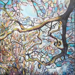 Stained Glass Trees: (Light) Caught in the Branches