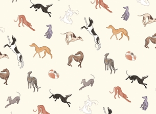 General greyhounds, dogs, hounds, dog lover personalised online greeting card