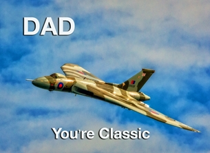Fathers birthday for-him, father, dad, father's-day, aeroplane, airplane, plane, jet, raf personalised online greeting card