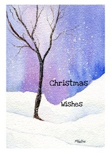 Christmas snow personalised online greeting card