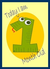 Birthday Colourful Snake number green yellow orange happy  personalised online greeting card