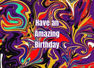 Snappyscrappy Birthday Card Birthday Marble, Abstract, For-Him, For-Her,  personalised online greeting card