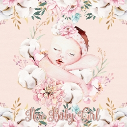 BABY GIRL birth personalised online greeting card
