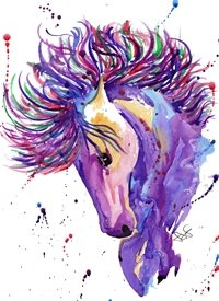 General Horse, Purple, Equestrian, Rider, Riding, Fairytale, Unicorn, Purple Horse, Horse Lover, Riding Lover, Horse Riding, Horse Rider, Horse Owner, Love Horses, Horse Card, Horse Gift personalised online greeting card