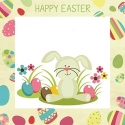 PinkWave Designs Easter Easter Happy, occasion personalised online greeting card