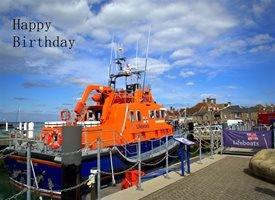 Wonky Doodle Designs Yarmouth Lifeboat Birthday   lifeboat  seafaring sea water boats RNLI rescue z%a personalised online greeting card
