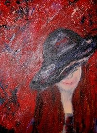 General Red lady hat personalised online greeting card