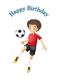 Her Nibs  Happy Birthday Football birthday children   Football boy  z%a personalised online greeting card