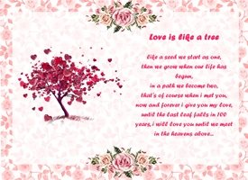 Valentines love, valentines, poetry personalised online greeting card