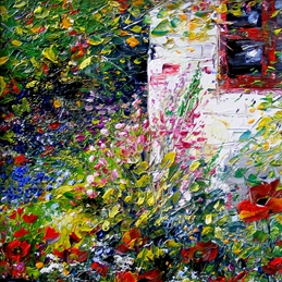 art Art card, impressionist art, country cottage, cards for mum, cards for grandma, cards for dad, floral cards, flower cards, gardens personalised online greeting card