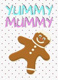 Christmas Gingerbread mum mummy z%a personalised online greeting card