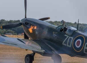 Chappers Photography Spitfire start up Photography Spitfire, aeroplane, plane, airplane, aviation, supermarine personalised online greeting card