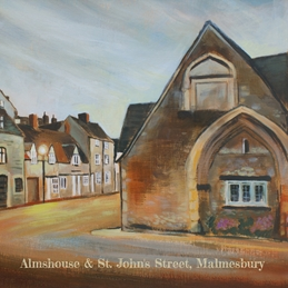 Art Almshouse & St. John's Street, Malmesbury painting art birthday personalised online greeting card