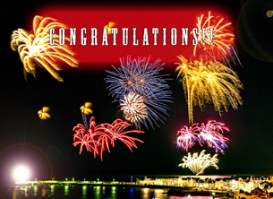 fireworks, congratulations personalised online greeting card