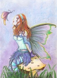 General Fairy, butterfly, fantasy personalised online greeting card