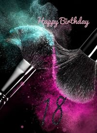 Cape Designs Made up to be 18 Birthday Make up