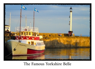 General photography Yorkshire, Belle, boat, pleasure, photography photographic, sea, Bridlington, harbour,  personalised online greeting card