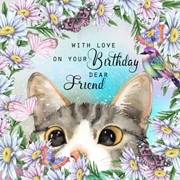 Birthday BIRTHDAY FRIEND personalised online greeting card