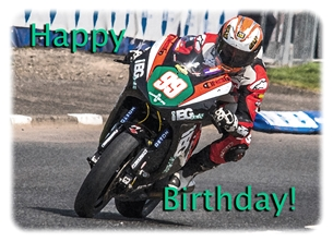 birthday birthday, for-him, motorbike, motorcycle, bike, racer, racing, photograph personalised online greeting card