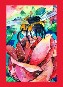Andrew Alan Art Could it BEE Love? art bee, bumble bee, romantic cards, valentine, i love you, romance, the one i love, be mine, bee mine, personalised online greeting card