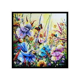 wildflowers at dawn art card