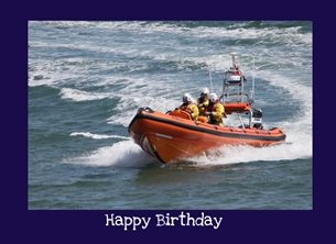 Birthday Lifeboat, RNLI, Filey, Yorkshire Coast, Birthday, inshore, Yorkshire, personalised online greeting card
