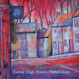 Art Lower High Street, Malmesbury painting art  personalised online greeting card