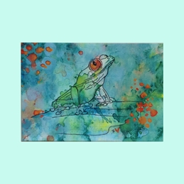 art Frogs Animals  personalised online greeting card