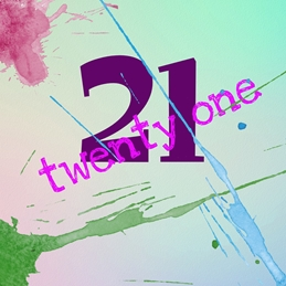 Her Nibs  Twenty One Paint Splash, personalised online greeting card
