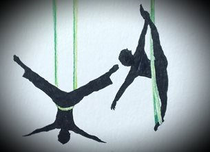 EmilyJane Aerial Yoga General artwork yoga silhouette for-her for-him personalised online greeting card