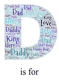 Fathers general Daddy, Dad, Blue, Letter, WordArt,  personalised online greeting card