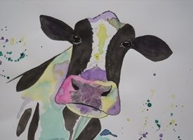 Ruth Searle Art & Photography Mabel General cow personalised online greeting card
