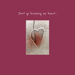 General Heart ,love, broken hearted ,pink ,Valentines personalised online greeting card