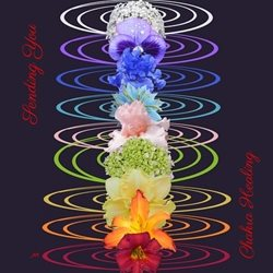 General Chakra Energy Healing Flower Symbol Spiritual personalised online greeting card