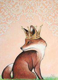 art Fox Crown z%a personalised online greeting card