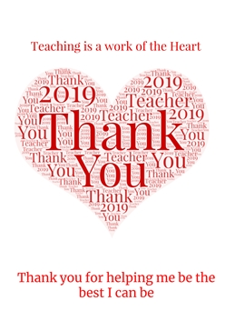 School teaching, thank you teacher, end of term  personalised online greeting card