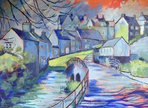 Mary Dodd Art Goosebridge Malmesbury  art Goosebridge St. John's Street Malmesbury painting artist abstract art card personalised online greeting card