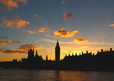 photography houses of parliament big ben london landmark skyline sunset tourist attraction famous landscape  personalised online greeting card