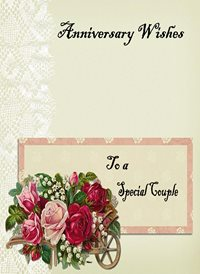 Anniversary Flowers Cart Lace Light Grey Pink Red Happy  z%a personalised online greeting card