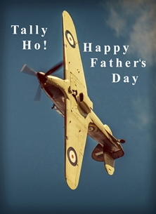 NorthLight Photo-Art Father's Day Hurricane Fathers father's-day, father, dad, for-him, RAF, Hurricane, aeroplane, airplane, plane, aircraft, photograph personalised online greeting card