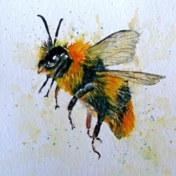 art bee animals wildlife dad son  granddad  uncle mum daughter Nan aunt friend personalised online greeting card
