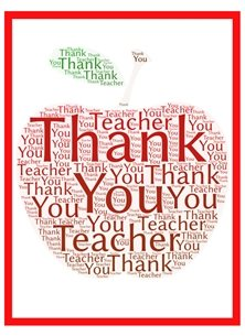 School teacher, apple, end of term, teachers, personalised online greeting card