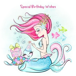 Birthday children BIRTHDAY KIDS mermaids children personalised online greeting card