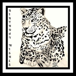 birthday leopard animals z%a personalised online greeting card