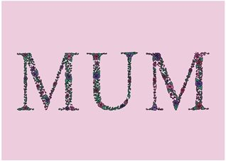 mothers birthday mother's day mum mummy mom  floral flowers daisy gerbera green pink purple garden chintz pretty  personalised online greeting card