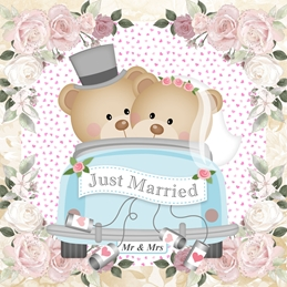 Just Married Wedding Day Card