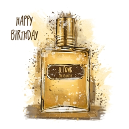 Aftershave Birthday Card